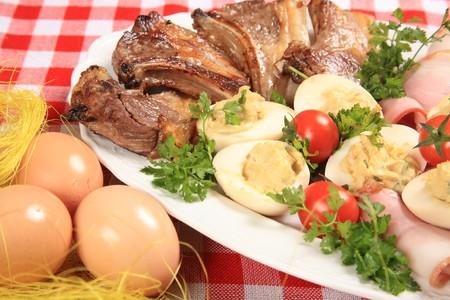 Grilled lamb steak Stock Photo