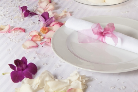 Table set for a wedding dinner Stock Photo - 17337357