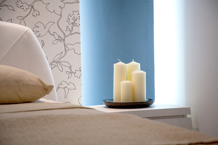 Candles in the bedroom