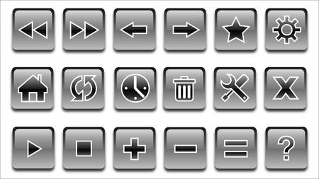 銀の Web ボタン
