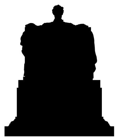 アブラハム リンカーン黒ベクトル シルエット イラスト