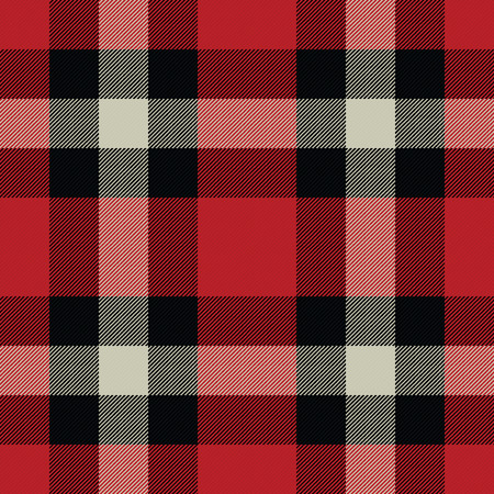 Lumberjack Tartan And Buffalo Check Plaid Seamless Pattern Vector Illustration