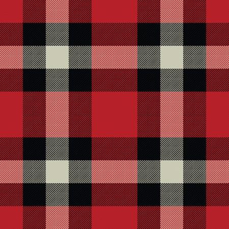 Lumberjack Tartan And Buffalo Check Plaid Seamless Pattern Vector Illustration