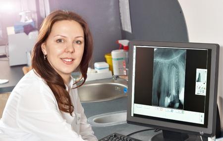 의료 직업에 대한 치과 클리닉 사람들의 화보