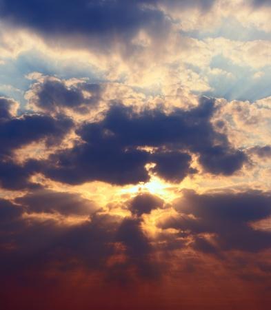 Panoramic high rez picture sunset sky Reklamní fotografie - 10979831
