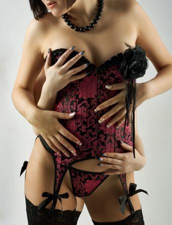 Two woman in sexual temptetion in underwear
