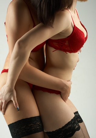 adult sex: Two woman in sexual temptetion in underwear