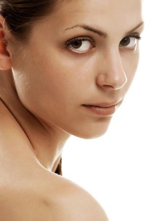 beaty: Close up portrait beaty woman in studio