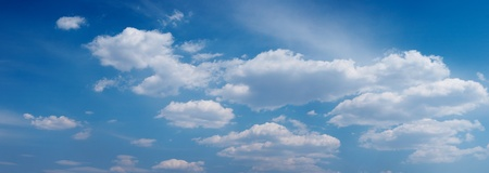 skie: Panoramic picture blue sky with cloudness