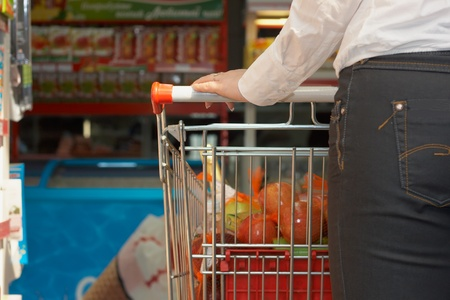Close up back and market basket with food articles Stock Photo - 11593447