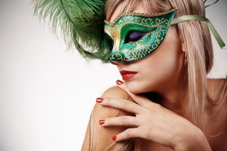 Portrait woman in venetian mask