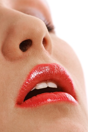 Close up woman mouth on part face Stock Photo - 12552986