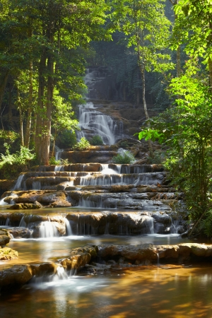 Forest waterfall in Tak province Thailand Stock Photo