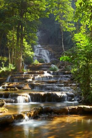 Forest waterfall in Tak province Thailand 版權商用圖片 - 17815747