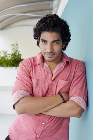indian men: Casual lifestyle outdoor portrait handsome guy