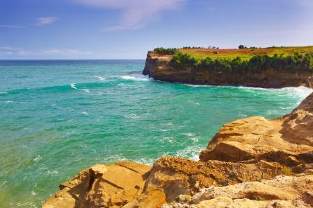 water s edge: Vista mare paesaggio, Oceano Indiano, Indonesia, spiaggia Klayar