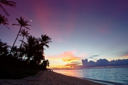 Landscape with sunset seaview on Koh Samui, Thailand photo