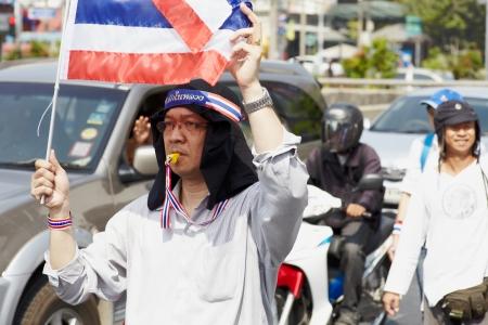 goverment: Bangkok - Desember 09  People anti goverment protests on Ratchadaphisek Rd, desember 9, 2013 in Bangkok, Thailand