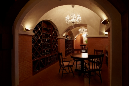 chear: Wine room and cellar with wine shelves Editorial