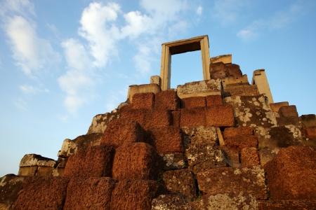 cambodia sculpture: Cambodia Angkor complex ancient ruins Baphuon temple