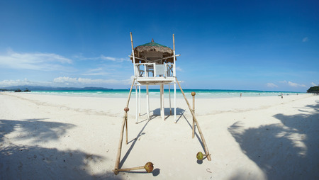 salvavidas: Playa blanca en Boracay PHILIPPIES con servicios que salvan vidas