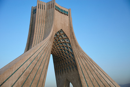 Azadi tower monument of freedom in Tehran, Iran