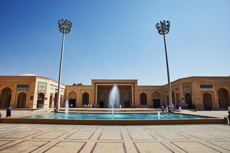 Shiraz, Iran - September 10, 2016 Shiraz city shahe cheragh hole shrine mosque in Iran, muslim people celebrating borban holiday