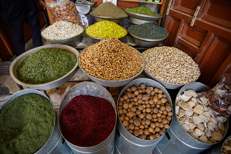 suq: Middle of east iranian bazar close up sceene