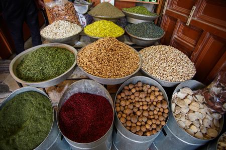 iranian: Middle of east iranian bazar close up sceene