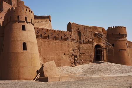 iranian: Ancient ruins islamic iranian citadel in Bam, Iran Editorial