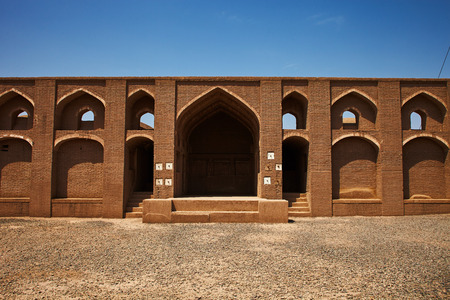 bastion: Ancient ruins islamic iranian citadel in Bam, Iran Stock Photo