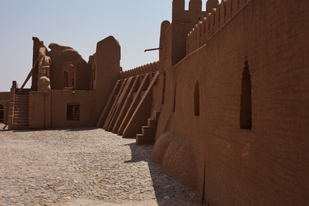 iranian: Ancient ruins islamic iranian citadel in Bam, Iran Stock Photo