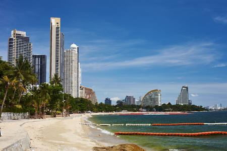 Thailand sea view to the Pattaya city bay