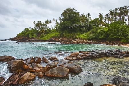 Sri-Lanka wild beaches with natural nature Stock Photo