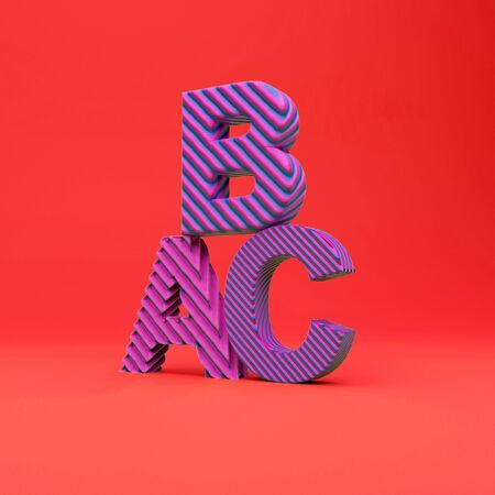 3d rendering text latter on the colorfull background 스톡 콘텐츠