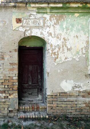 Entrance door on grandfather's house in Radojevo, Banat built in 1810