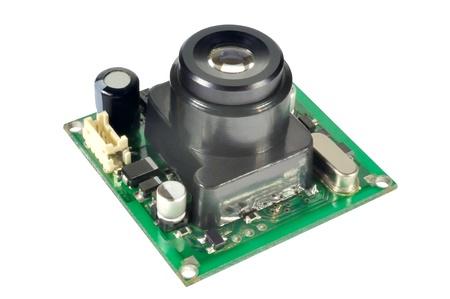 Module miniature digital video camera against white background