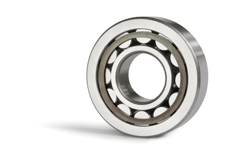 Close-up of the roller bearing on a white background Stock Photo