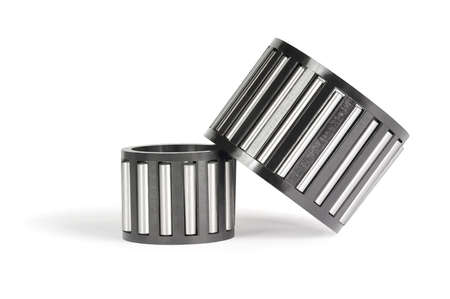Two roller bearings for the car on a white background