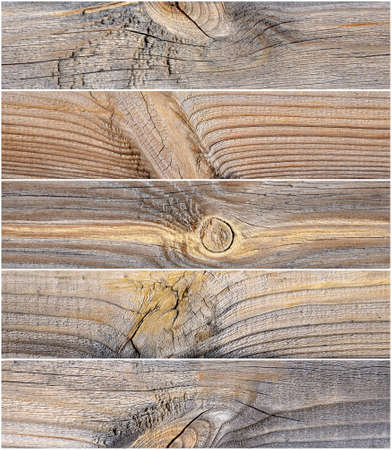 A collage of fragments of the old wood structure Stock Photo