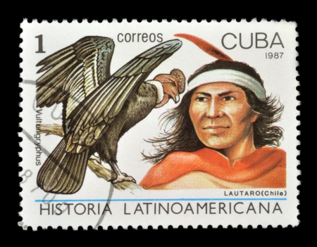 CUBA - CIRCA 1987  stamp printed by Cuba, shows the history of the peoples of Latin America, circa 1987