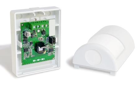 The motion sensor alarm on a white background