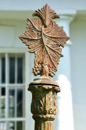 Fragment of an old fence post, cast iron
