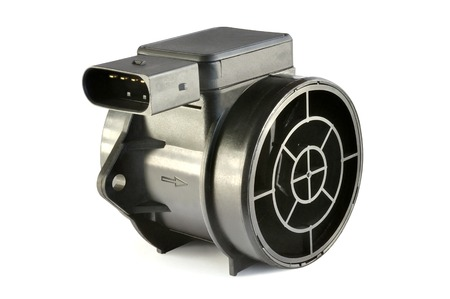 transducer: Air flow sensor automobile engine on a white background