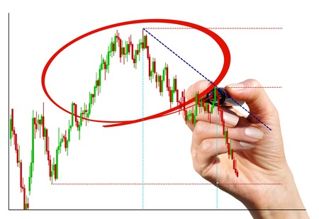 selects: La mano con il marcatore seleziona un grafico plot un'ellisse