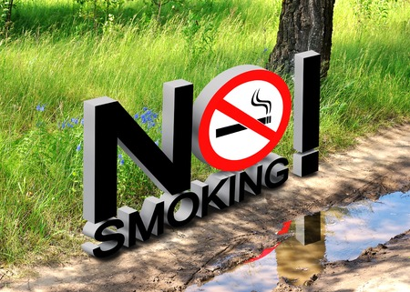 The collage on the theme of environmental protection and the smoking ban
