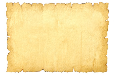 Sheet of old paper with torn edges isolated on white background Reklamní fotografie