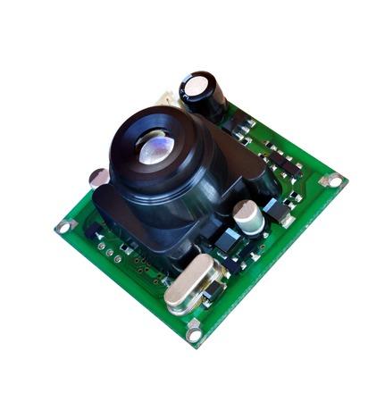module: Module miniature digital video camera on white background Stock Photo