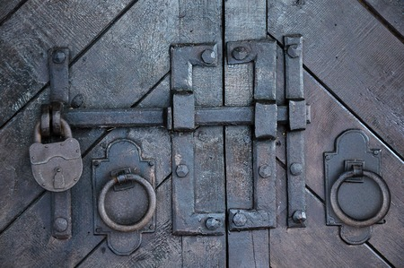 Antique wrought iron gate hardware for doors and toggle clasp