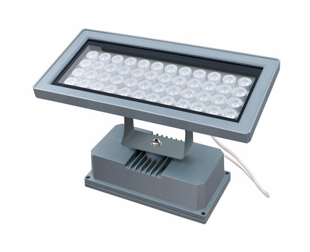 Modern economical led street lighting fixture on a white background